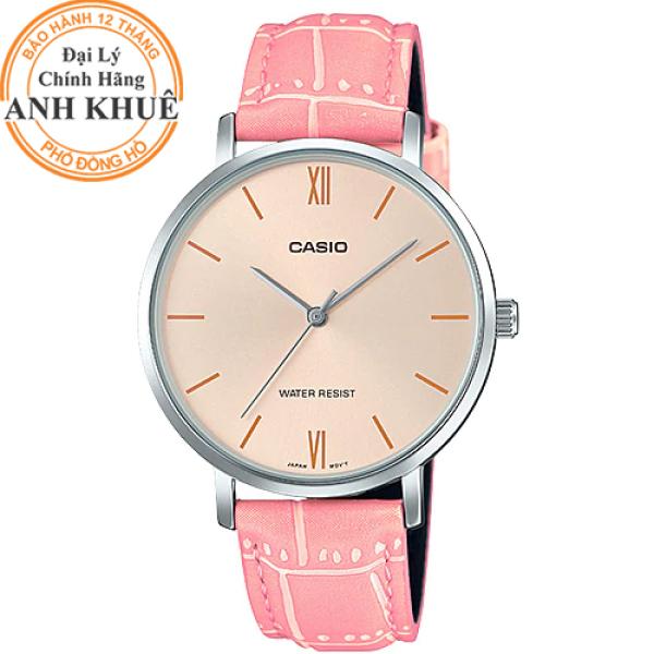 Đồng hồ nữ dây da Casio Anh Khuê LTP-VT01L-4BUDF