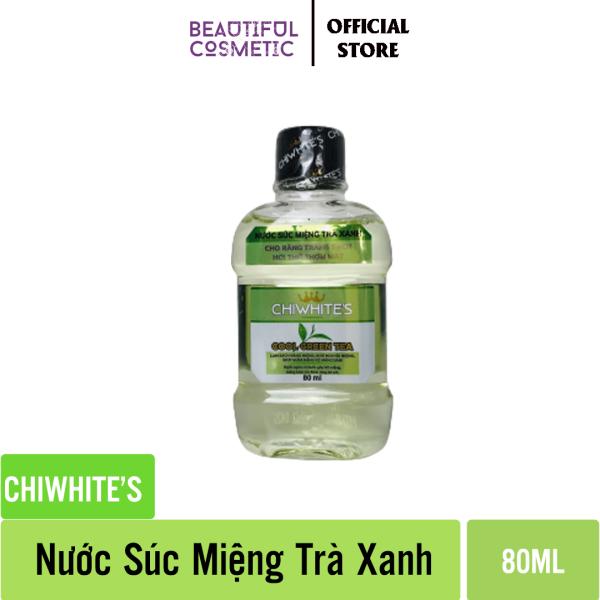 Nước súc miệng Chiwhites  80ml - Trà Xanh - Làm sạch mảng bám - Đem lại hơi thở thơm mát giá rẻ