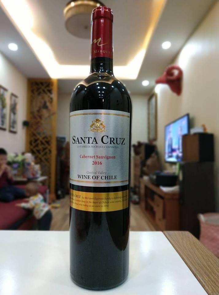 Vang Chile Santa Cruz 750ml 2018 Nhật Bản
