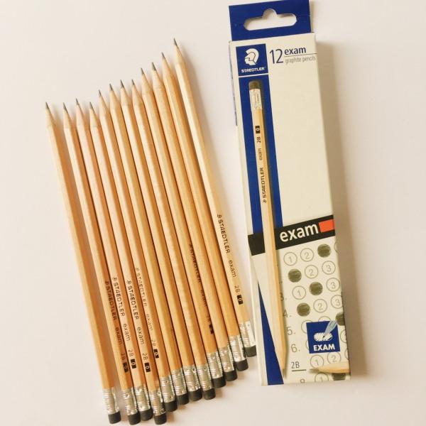 Mua Hộp 12 chiếc bút chì thân gỗ STAEDTLER EXAM 132 40 2B có gôm tẩy