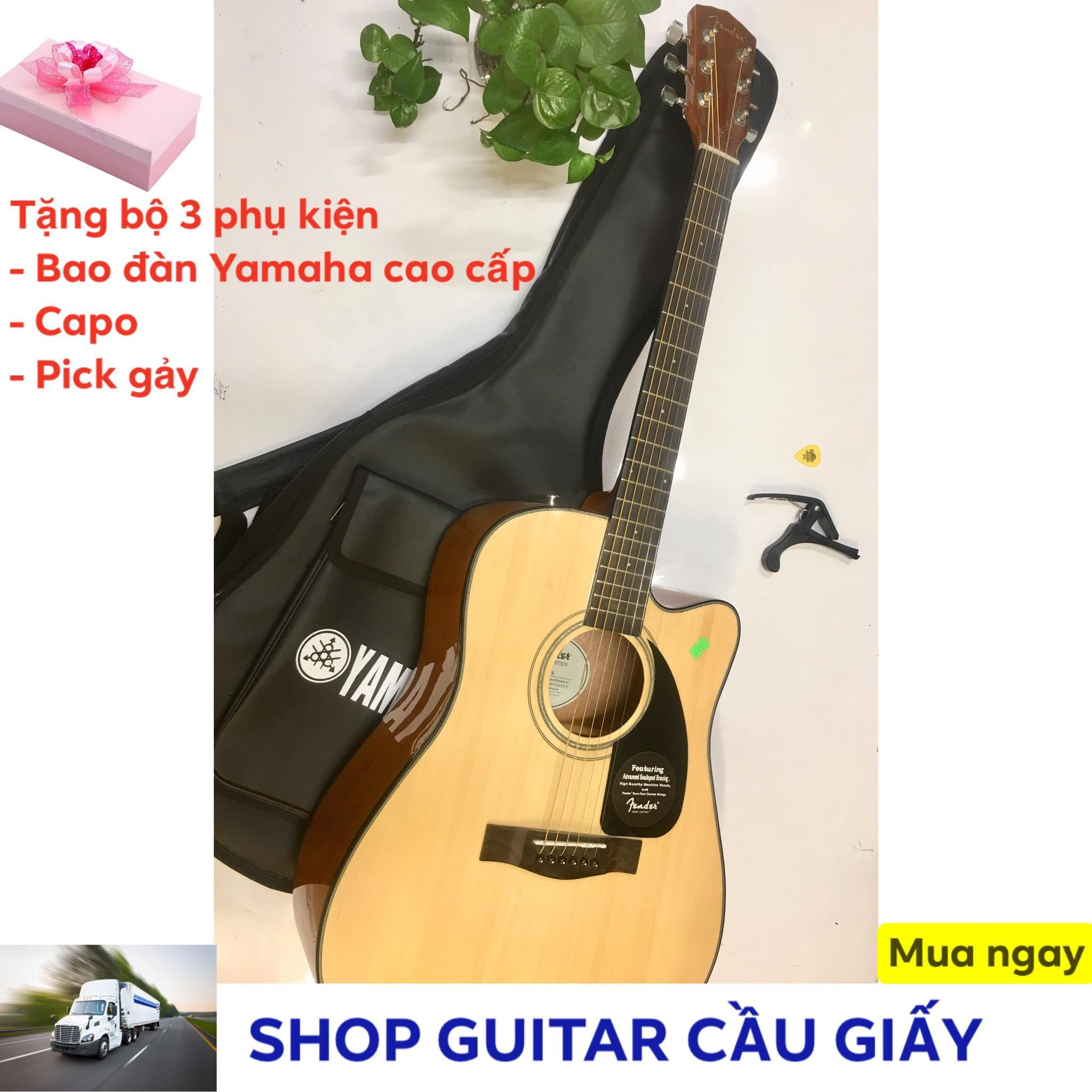 Đàn guitar Acoustic Fender + Tặng bao da Yamaha, capo, pick gảy