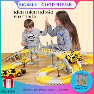Đồ chơi trẻ em, bộ đồ chơi lắp ghép đường ray ô tô, tàu hỏa kích thích khả năng sáng tạo và phát triển tư duy trẻ nhỏ. thumbnail