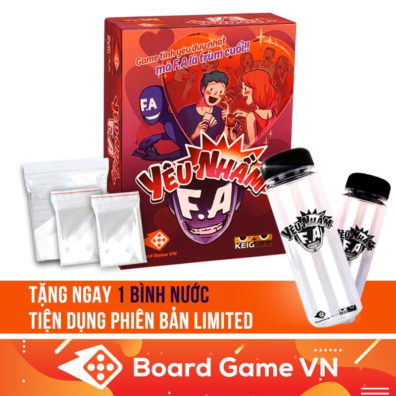 Combo Board Game Yêu Nhầm FA Và Bộ Sleeves Bọc Bài - Tặng Bình Nước Tiện Dụng Phiên Bản Limited Giá Hot Siêu Giảm tại Lazada