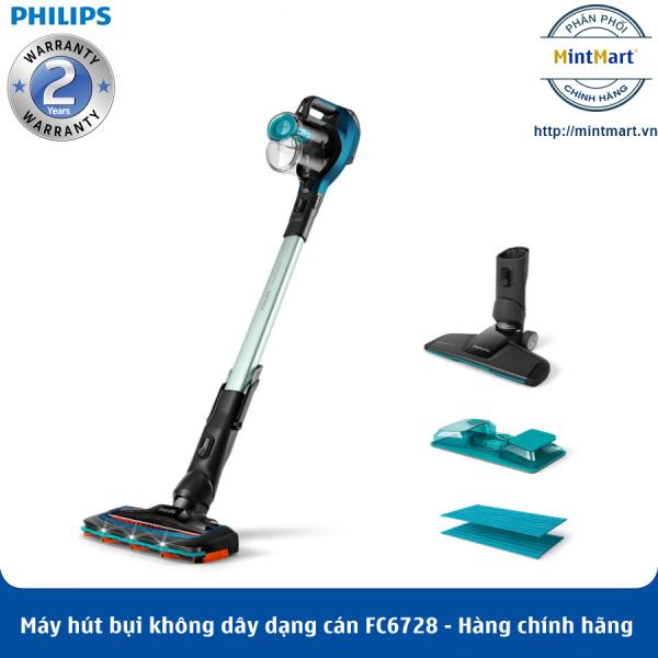 Máy Hút Bụi Không Dây Có Cán Philips FC6728 - Hàng Chính Hãng - Bảo Hành 2 Năm Toàn Quốc