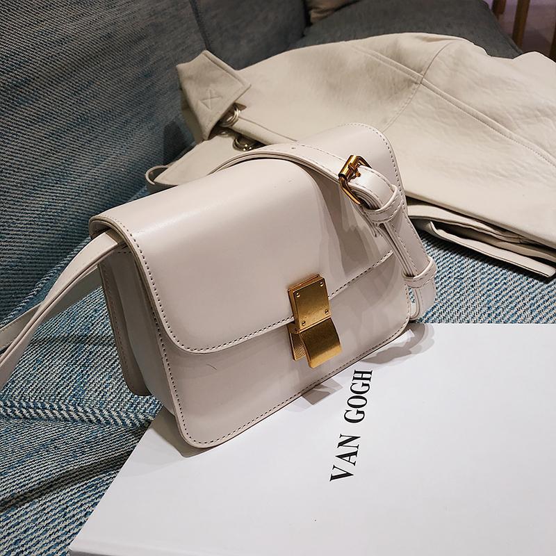 Texture Bags Female 2019 New Style Korean Style Fashion Leisure Versatile Vintage Elegant Shoulder Tofu Square Sling Bag