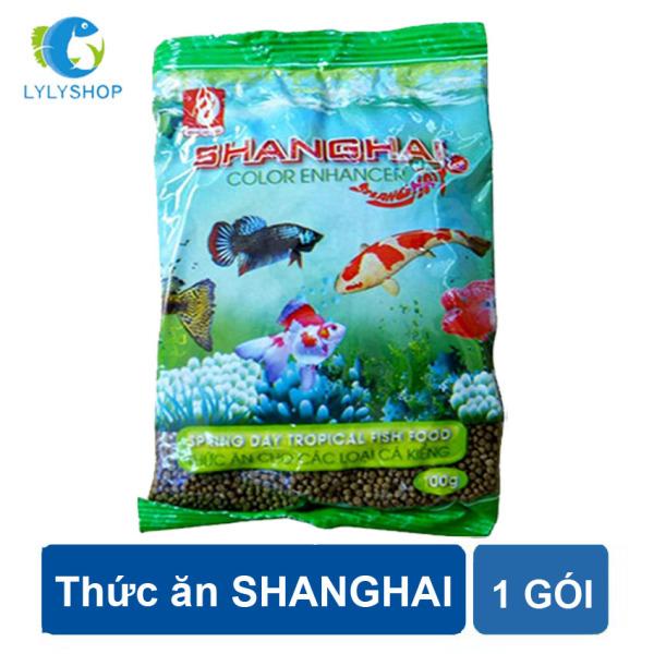 Thức ăn cho cá ShangHai dùng cho các loại cá kiểng,  cá koi, cá chép... coi loại 100gr/gói ( Nâu)