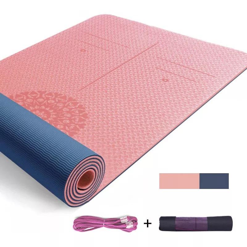 Thảm tập yoga , Thảm tập thể dục Thái lan  , thảm tập gym 8mm Thảm chống trượt bảo vệ môi trường chống trượt và dày cho người mới bắt đầu.
