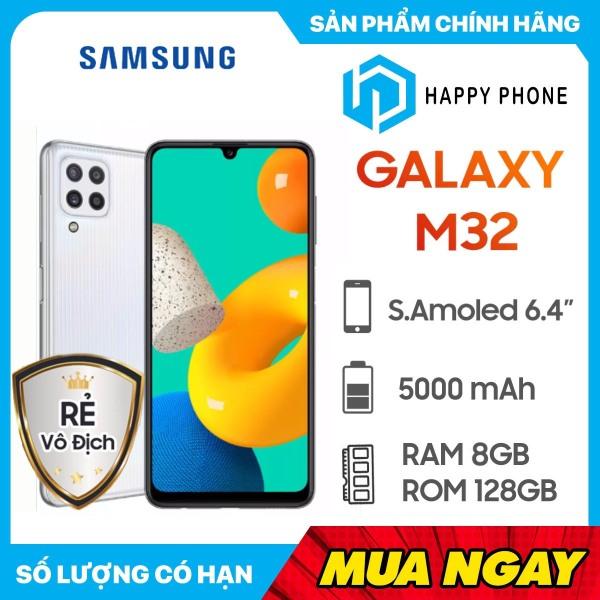Điện thoại Samsung Galaxy M32 (8GB/128GB) - Hàng Chính Hãng, Mới 100%, Nguyên Seal, Bảo hành 12 tháng