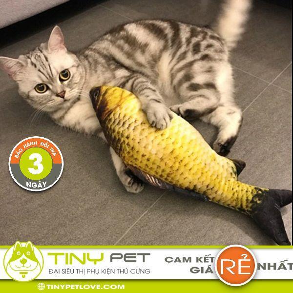 Cá Bông Nhồi Cỏ Bạc Hà 3d Cho Mèo - Gối Ôm Nhồi Catnip - Đại Siêu Thị Phụ Kiện Thú Cưng Tinypetlove By Đại Siêu Thị Phụ Kiện Thú Cưng Tiny Pet Love.