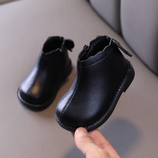 Mùa Đông Bé Gái Dr. Martens 1-3 Tuổi 2 Mịn Hơn Trẻ Con Công Chúa Da Giày Cho Bé Bốt Cổ Ngắn Đế Mềm Giày Cotton Thủy Triều thumbnail