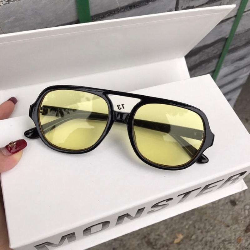 Giá bán Kính râm Flackbee vàng, có thể đeo đi đêm và thay mắt kính râm cận 3340
