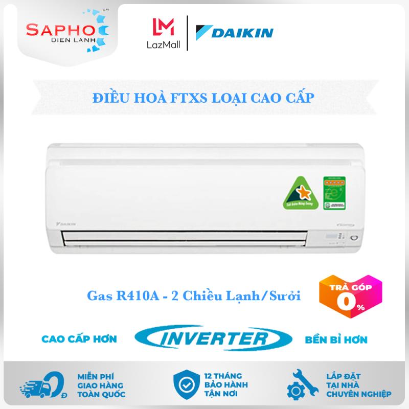 [Free Lắp HCM] Điều Hoà Daikin Inverter FTXS Gas R410A Treo Tường Hai Chiều Lạnh/Sưởi Loại Cao Cấp Máy Lạnh Daikin - Điện Máy Sapho