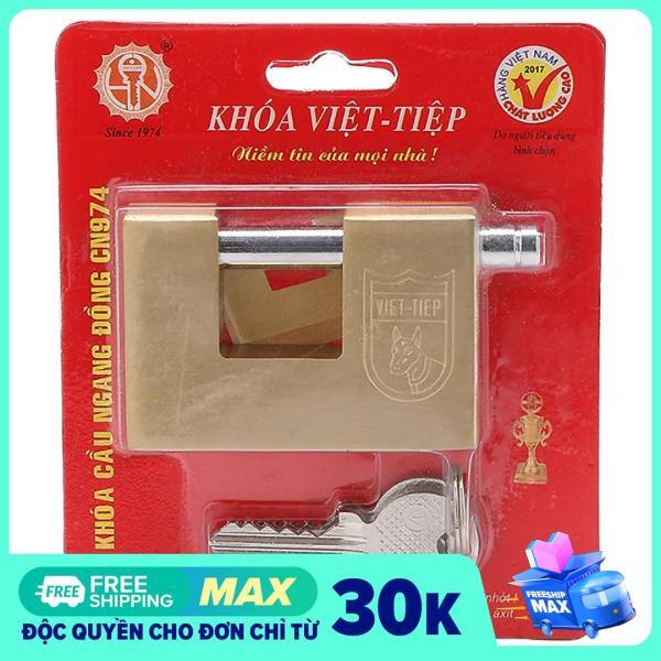Ổ Khoá Việt Tiệp Cầu Ngang 68 x 48 Ống Phi 8mm