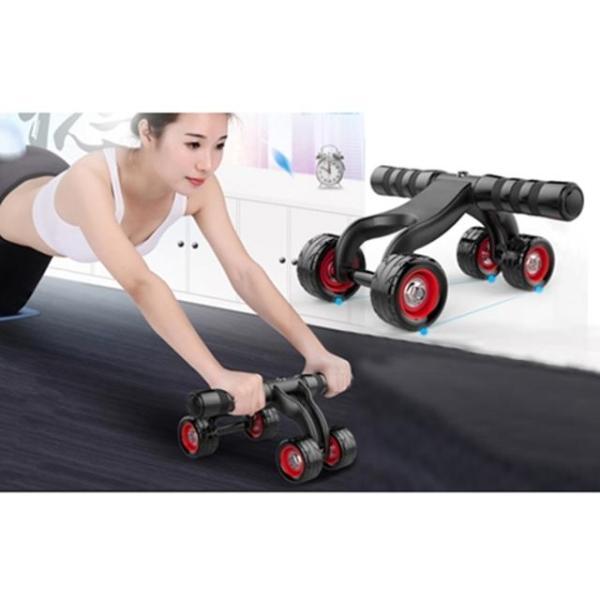 Con lăn tập cơ bụng 4 bánh cỡ lớn tặng thảm lót , dụng cụ tập thể dục ,cơ ngực ,cơ bụng hiệu quả