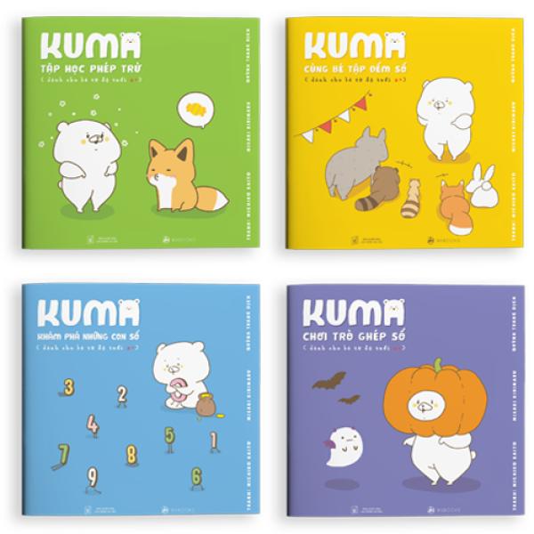 Mua Sách ehon - Set 4 cuốn Kuma làm quen với môn Toán - dành cho trẻ từ 2-6 tuổi