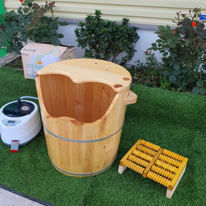 Thùng gỗ xông chân gỗ thông,thùng gỗ ngâm chân , chậu ngâm chân bằng gỗ