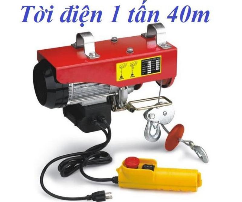 máy tời điện 1 tấn cáp 40 mét PA1000, thiết bị nâng hạ