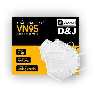 [D&J Group] Khẩu trang y tế 4 lớp VN95 màu trắng (10 cái Hộp) - Hàng chính hãng thumbnail