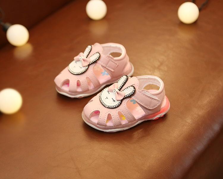 sandal tập đi bé gái size 15-19 thỏ kute
