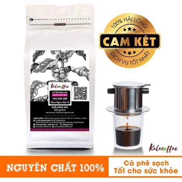 500G Cà phê Nguyên Chất Culi đặc biệt , Mạnh hơn , Thơm hơn , Đậm đà hơn , hậu ngọt dành cho khách sành cà phê Kalacoffee