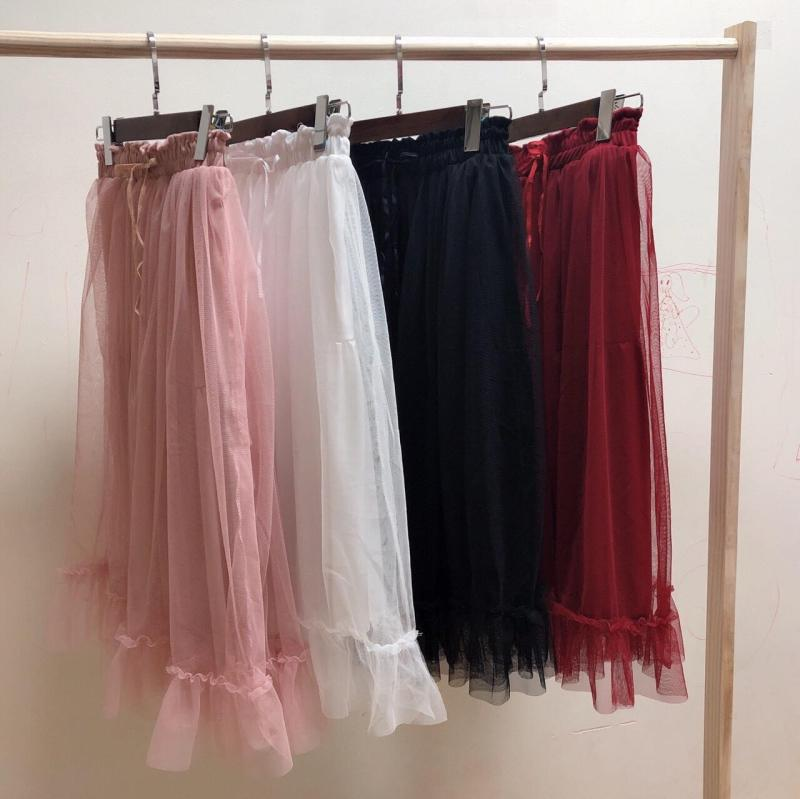 Chân váy lưới dài 2 lớp đón đầu xu hướng 2020