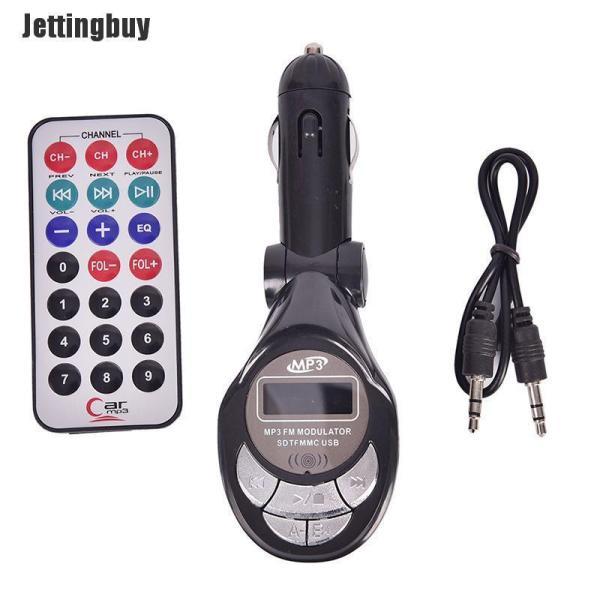 Jettingbuy Máy Phát FM Không Dây Bluetooth Máy Nghe Nhạc MP3 Bộ Phụ Kiện Xe Hơi Rảnh Tay USB TF SD Điều Khiển Từ Xa