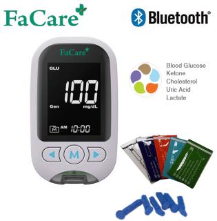 Máy đo đường huyết, gout, mỡ máu 5 trong 1 thương hiệu Facare FC-M168 Bluetooth thumbnail