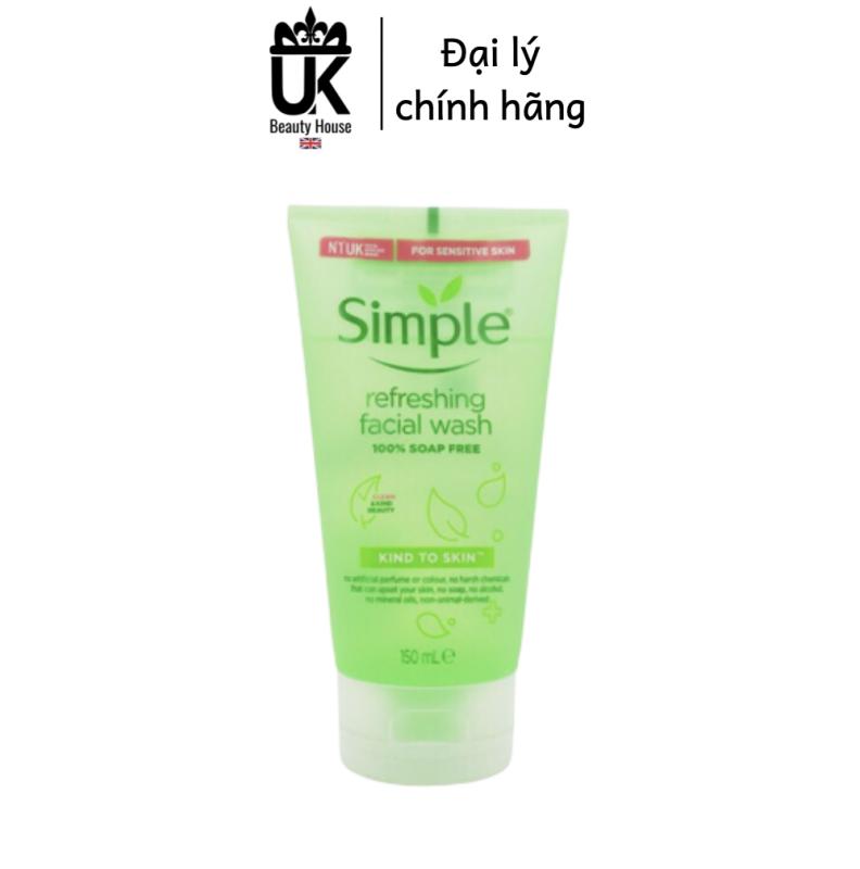 Sữa Rửa Mặt Simple Gel Kind To Skin Refreshing Facial Wash Gel 150Ml