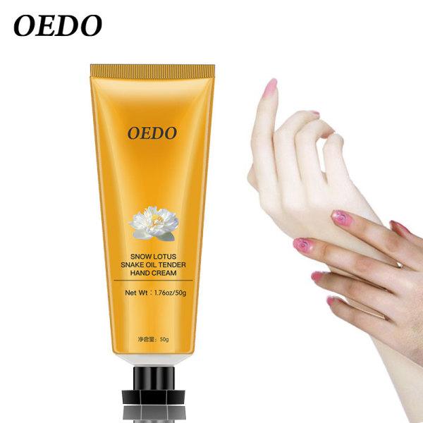 OEDO Kem chăm sóc da tay Hoa Sen Tuyết 50g có chức năng kháng khuẩn, chống nứt nẻ, dưỡng trắng da và chống lão hóa, phù hợp với mọi loại da - INTL cao cấp