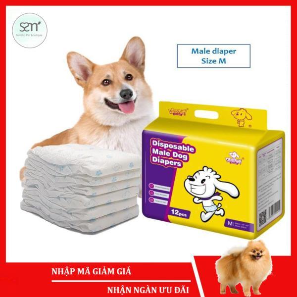 5 cái Bỉm vệ sinh chó mèo đực Sumiho công nghệ Ý size M cho chó 6-15Kg tã bỉm cho chó mèo thú cưng