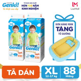 Combo 2 gói Tã dán Nhật cao cấp Genki XL44 - Gói 44 miếng (Cho bé từ 12-17kg) thumbnail
