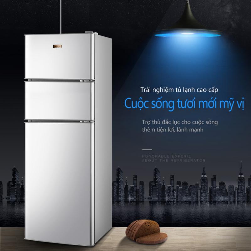 Tủ lạnh 3 cánh 148L ZHIGAO màu bạc tủ lạnh mini tủ lạnh cỡ nhỏ ba cửa 3 cánh 3 ngăn làm lạnh, đông mềm, đông đá, sang trọng hiện đại tiết kiệm điện tủ lạnh gia dụng tủ lạnh mini tủ lạnh cỡ nhỏ  beauti house