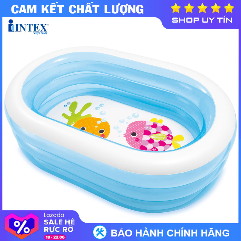 Siêu Tiết Kiệm Khi Mua Bể Bơi Phao INTEX 57482 - Hồ Bơi Cho Bé Mini, Bể Bơi Phao Trẻ Em