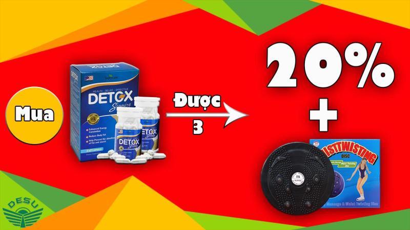 DETOX SLIMMING - Viên giảm cân an toàn, nhanh chóng, hiệu quả cao cấp