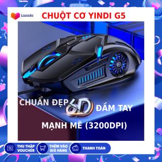 Chuột máy tính YINDI-G5 ,hiệu ứng ánh sáng 7 màu , DPI 4 cấp độ phù hợp cho game thủ và văn phòng thumbnail