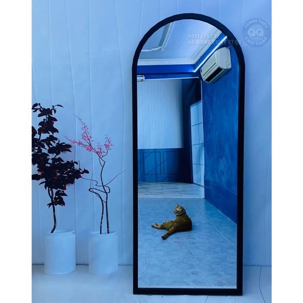 60x160cm Gương soi toàn thân CÓ CHÂN V1 Gương treo tường vòm tròn 1 đầu