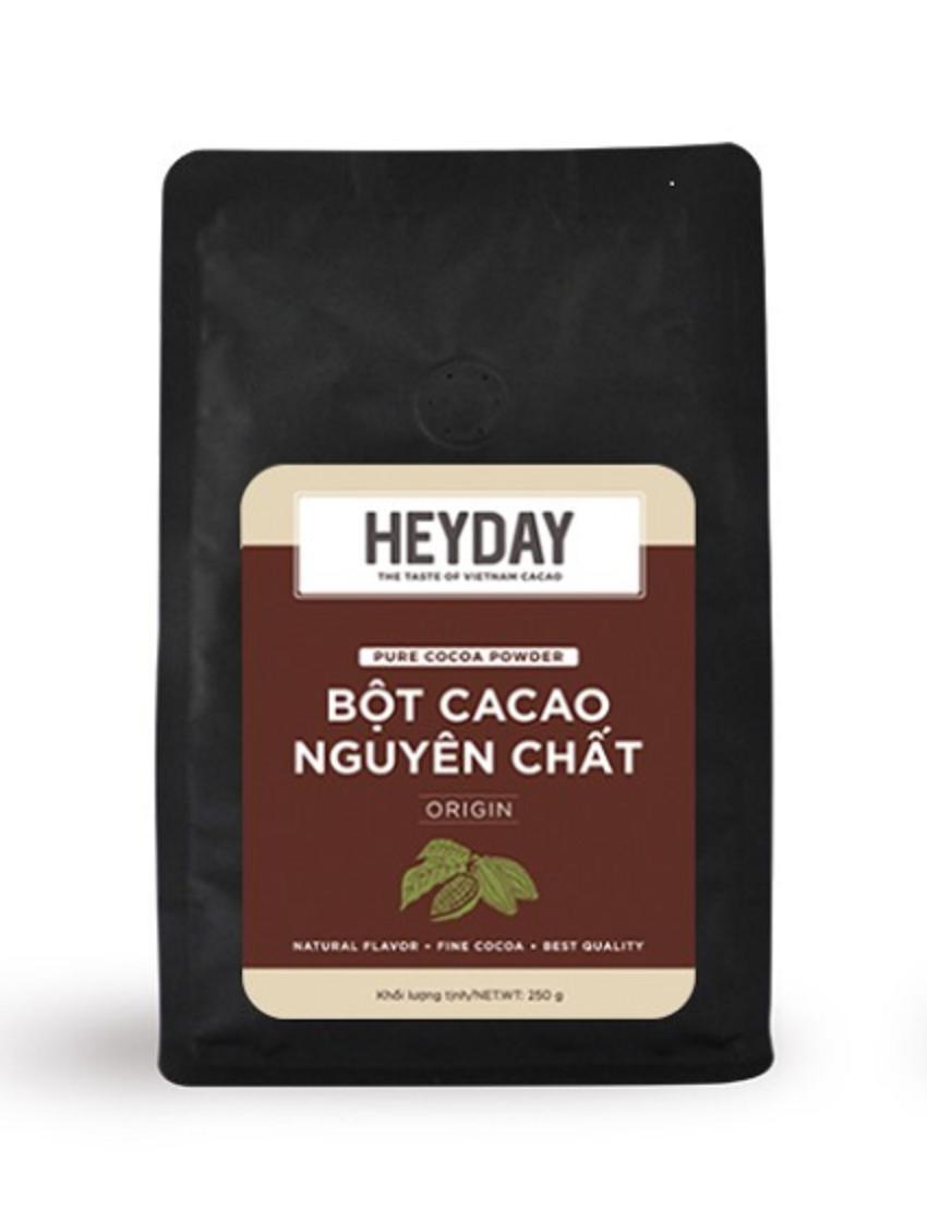 Bột Cacao Heyday Việt Nam Nguyên Chất 100% Cacao Túi 500g - Origin Thượng Hạng Giá Cực Cool