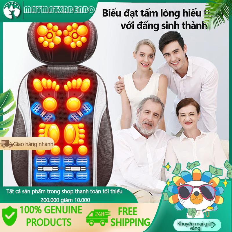 Ghế massage toàn thân, Ghế đệm massage toàn thân rung đa năng, Thiết bị massage vai gáy,lưng, toàn thân gia dụng dành cho người lớn tuổi