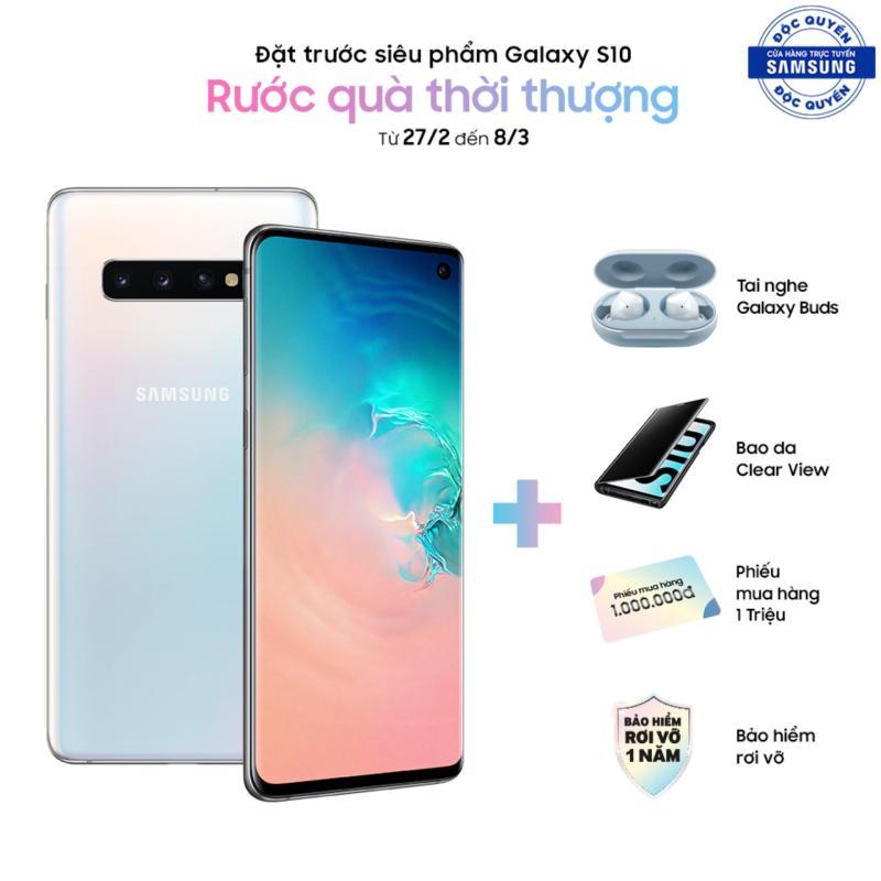 Samsung Galaxy S10 (Quà 7 triệu: Tai nghe Earbuds, bao da Clearcase, PMH 2 triệu) - Hãng phân phối chính thức.