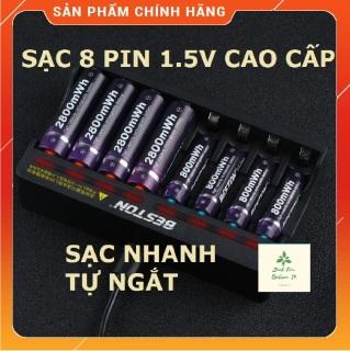Bộ sạc pin tiểu 8 pin 1.5V, pin sạc AA AAA BESTON 1.5V chính hãng pin lithium hàng cao cấp thumbnail