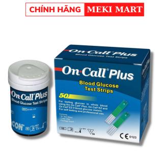 Que thử cho máy đo đường huyết Oncall Plus và One Call EZII hộp 50 que + Mua 3 hộp tặng thêm túi đựng chăn màn thumbnail