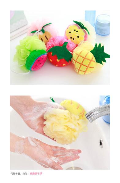 Bông tắm tạo bọt hình trái cây đáng yêu nhập khẩu