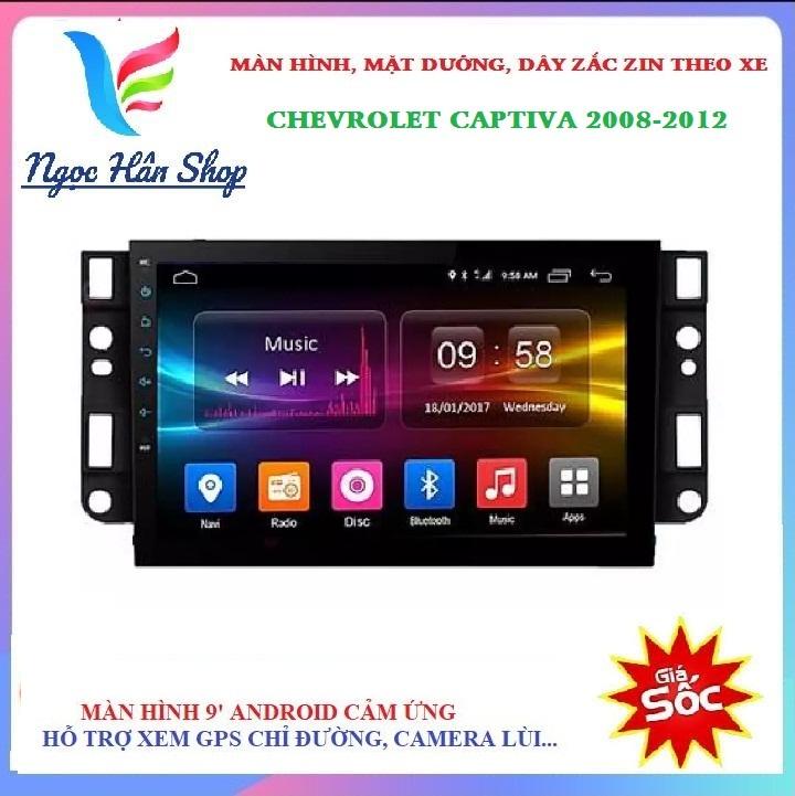[HỖ TRỢ LẮP ĐẶT Ở HÀ NỘI] Màn hình kết nối wifi Android 10. cho xe CHEVROLET CAPTIVA 2008,2099,2010,2011,2012, màn hình kết nối wifi, dữ liệu di động từ điện thoại, tích  hợp các loại camera hành trình, camera lùi