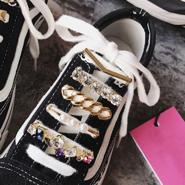 Bùa KANSUCE, Giày Nữ Đẹp Dây Giày Trang Trí Thời Trang, Phụ Kiện Kẹp Giày Có Khóa Trang Trí Kẹp Dây Giày Dây Giày giá rẻ