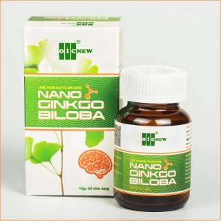 Nano Ginkgo Biloba - Hỗ trợ tăng cường tuần hoàn máu não, giảm nhanh triệu chứng thiểu năng tuần hoàn não rối loạn tiền đình, đau đầu, chóng mặt thumbnail