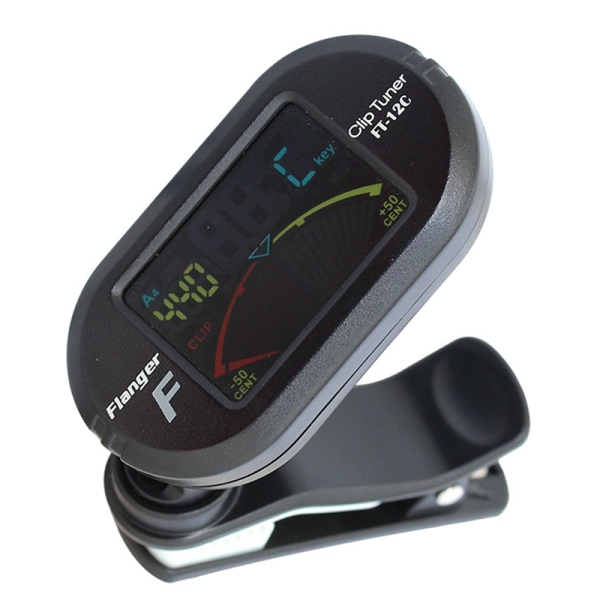Flanger Guitar Tuner Digital Tuner with Clip on Design for Guitar FT-12C for Acoustic Guitar Electric Guitar Bass