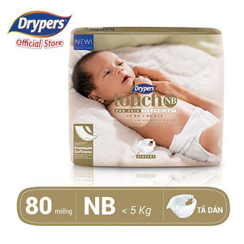 Tã Dán Drypers Touch NB 80P Giá Siêu Rẻ