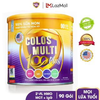 Sữa bột tăng sức đề kháng, phát triển thể chất Mama Sữa Non Colos Multi 100 Plus dạng lon 90 gói x 1,5g thumbnail