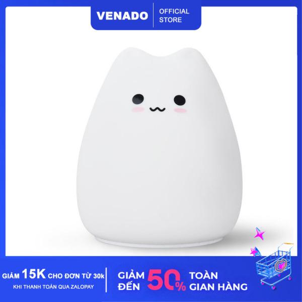 Bảng giá Đèn ngủ Silicone để bàn cảm biến đổi màu hình Mèo cute Mèo buồn Mèo nghiêm túc cực Hot - Venado