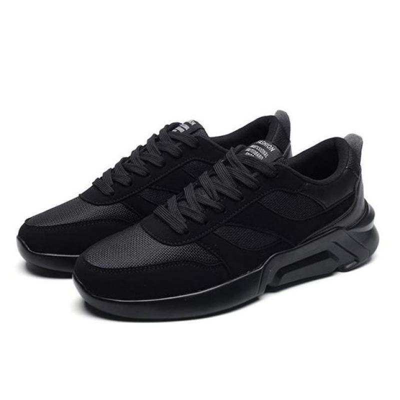 Giày Sneaker Nam Thể Thao Mẫu Mới BAZAS S9-0985B Màu Đen